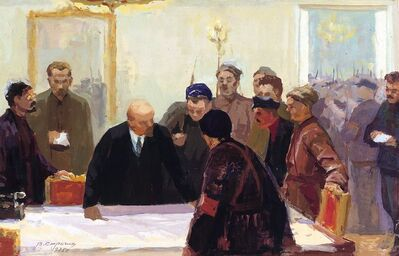 Vasily Vasilevich Strigin, 'Before the assault', 1975