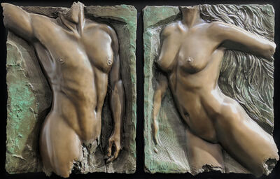 Bill Mack, 'SPIRIT VALIANT DIPTYCH (BRONZE)', 2000