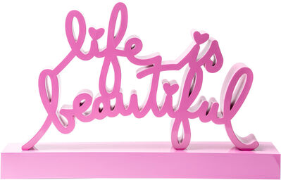 Mr. Brainwash, 'Life is beautiful - Pink', 2019