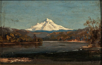 Thomas Hill, 'Mount Hood from the Junction of the Columbia and Willamette Rivers'