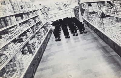 Eleanor Antin, '100 BOOTS IN THE MARKET, Solana Beach, California, May 17, 1971, 9:30 A.M.', 1971