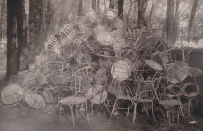 Deborah Turbeville, 'Unseen Versailles (Pile of Chairs)', 1980