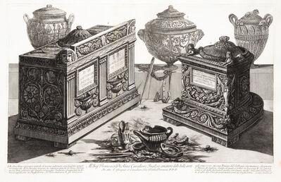 Giovanni Battista Piranesi, 'Cinerary urns and lamps.', 1773-1778