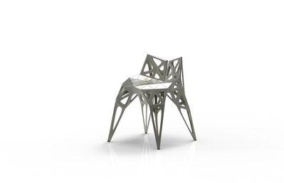 Zhoujie Zhang, 'MC003-F-Matt (Endless Form Chair Series)', 2018