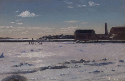 William Bradford, 'Fairhaven Harbor (Old Tack Works Wharf)'