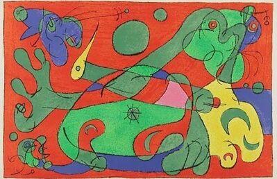 Joan Miró, 'X. Ubu Roi: La Guerre', 1966