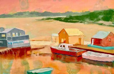 "Anne Harney, '""Menemsha Galley"" oil painting of Menemsha Harbor on Martha's Vineyard in vibrant color', 2018"