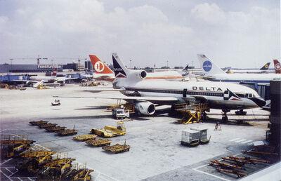 """Peter Fischli & David Weiss, '""""Airport"""" (Frankfurt, Delta)', 1989"""