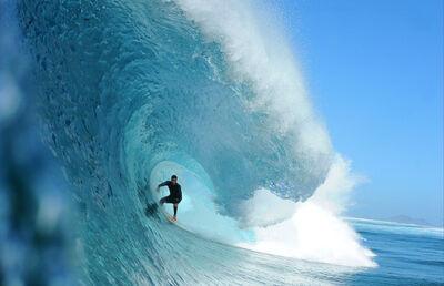 Guillermo Cervera, 'Manuel Lezcano surfing in La Graciosa, Canary Islands.'