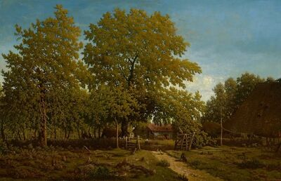 Théodore Rousseau, 'Farm in the Landes', 1852-1867