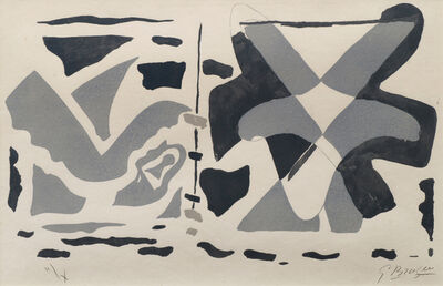 Georges Braque, 'Fenêtre II: Oiseaux gris', 1962