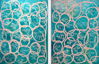 Harif Guzman, 'Ibiza Sea Salt (diptych)', 2019