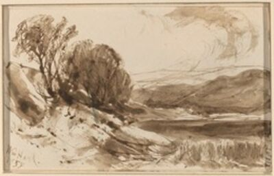 William M. Hart, 'Hilly Landscape with Trees', 1855