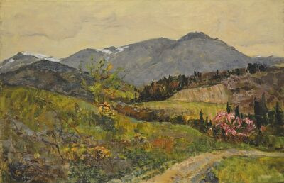 Aleksey Ivanovich Borodin, 'Mountains in Crimea', 1979