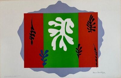 Henri Matisse, 'Henri Matisse School Prints Colorful Modernist Cut Out Jazz Drawing Lithograph', 1940-1949