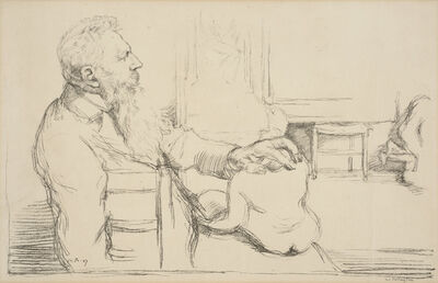 William Rothenstein, 'Portrait of Auguste Rodin', 1897