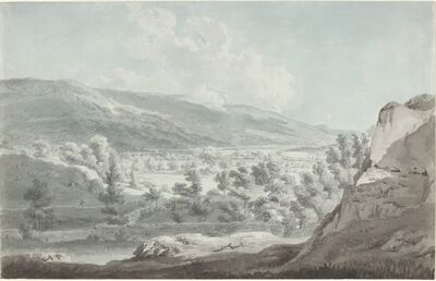 Edward Dayes, 'The Head of Ullswater', 1790s