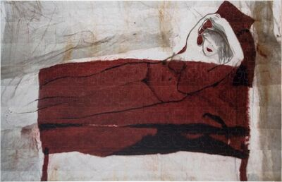 Azade Köker, 'Red Figure Lying Down', 2017