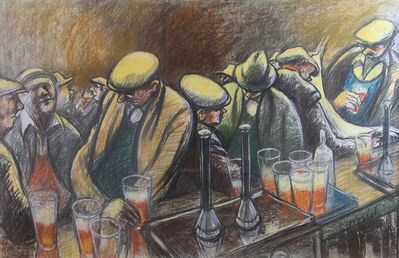 Norman Cornish, 'Busy Bar'
