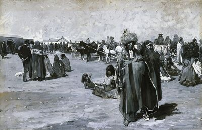 Henry F. Farny, 'Issue Day at Standing Rock', 1882