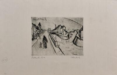 Erich Heckel, 'Canal in Ostend   Kanal bei Ostende', 1916