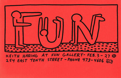 Keith Haring, 'Keith Haring at Fun Gallery 1983 ', 1983