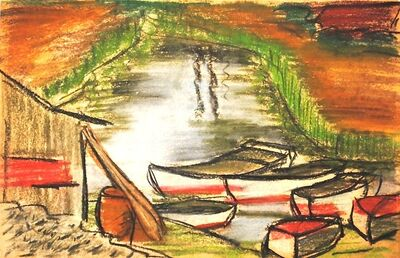 Dusti Bongé, 'Untitled (Rowboats and Cabin)', ca. 1938