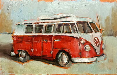 Bradford J. Salamon, 'Red VW Van', 2016