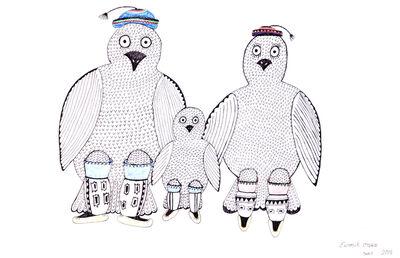 Enoosik Ottokie, 'Untitled (Owl Family)', 2019