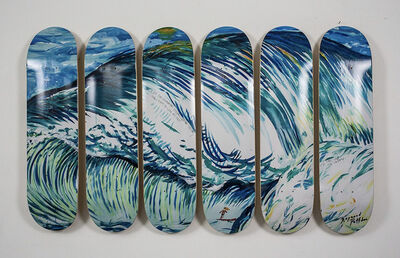 Raymond Pettibon, 'No Title (I see the...) Set of 6 limited skatedecks', 2019