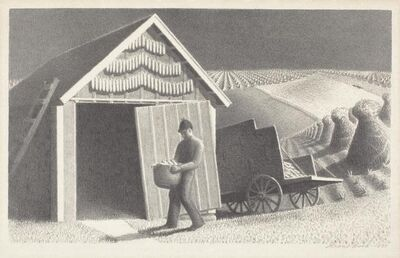 Grant Wood, 'Seed Time and Harvest', 1937