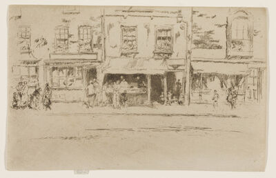 James Abbott McNeill Whistler, 'The Fish Shop, Busy Chelsea', 1886