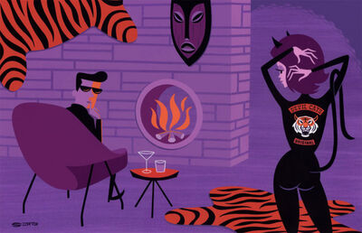 Josh Agle (Shag), 'The Tiger Killers', 2019