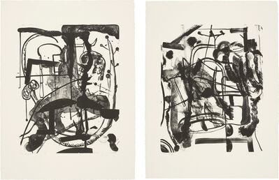Albert Oehlen, 'Untitled; and Untitled', 1998