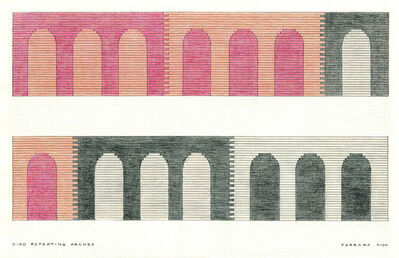 Jackie Ferrara, 'D100 Repeating Arches', 2004