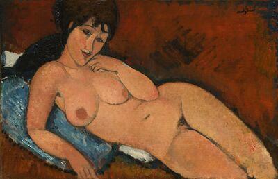Amedeo Modigliani, 'Nude on a Blue Cushion', 1917
