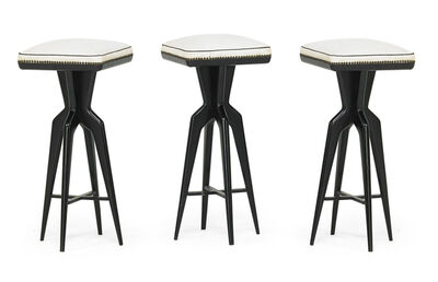 Giuseppe Scapinelli, 'Set of three bar stools', 1950s