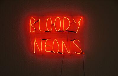 Sarah Maple, 'Bloody Neons', 2010