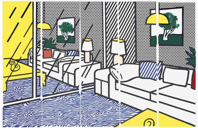 Roy Lichtenstein, 'Wallpaper with Blue Floor Interior (C. 260)', 1992