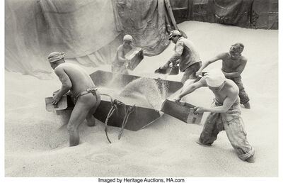 Carl Mydans, 'Unloading Rice at Kobe, Japan', 1949