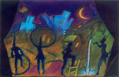 Carlos Almaraz, 'Moonlight Theater', 1988