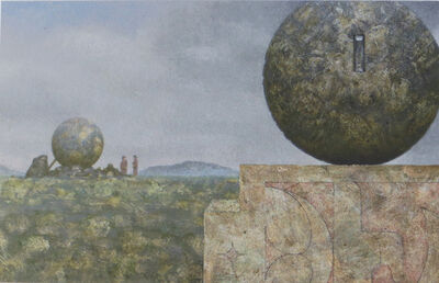 Clayton Anderson, 'Landscape With Two Spheres', 1989