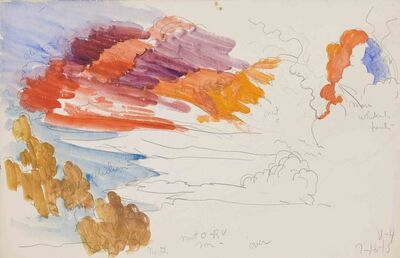 Charles Ephraim Burchfield, 'Flaming Orange Northern Sky at Sunset / V-4', 1915