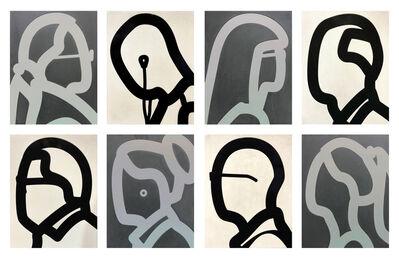 Julian Opie, 'STONE HEADS PORTFOLIO', 2018