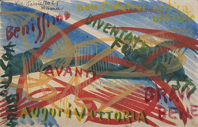 Giacomo Balla, 'Diventate Futuristi', 1914