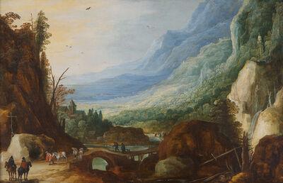 Joos de Momper II and Jan Breughel II, 'Mountainous Landscape with a Bridge Across a River', 1600 -1610