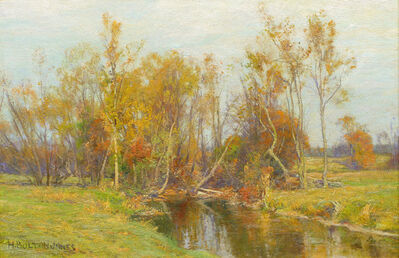 Hugh Bolton Jones, 'Autumn Trees along a Stream ', 19th -20th Century