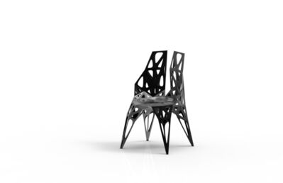 Zhoujie Zhang, 'MC010-F-Black (Endless Form Chair Series)', 2018