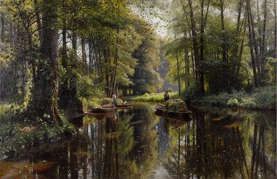Peder Mørk Mønsted, 'Spreewald, Kanallandschaft', 1913