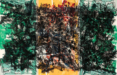Jean-Paul Riopelle, 'Triptyque Orange', 1967